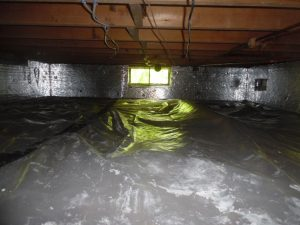 vapor barrier crawlspace insulation