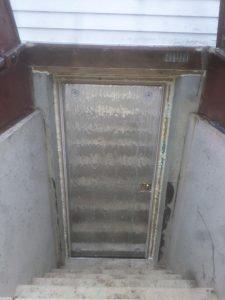 Basement door insulation